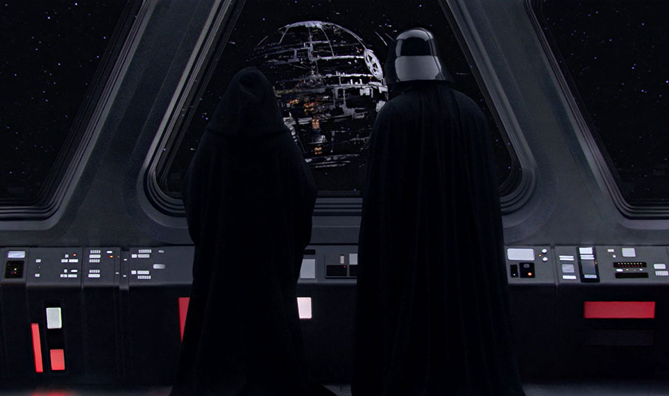Vader and Palpatine oversee construction of a new Death Star